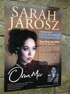 Sarah Jarosz - Rare Gig poster, Glasgow - July 2014