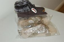 Womens Ladies Winter SCOTCHGARD shoes and slippers / size uk 8 / eu 42 Brand New