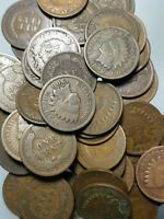 ✯ (5) Indian Head Cents ✯ Classic Old U.S. Coin 1859-1909 ✯ Antique Money