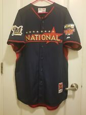 fb7eb0460ff Authentic 2012 Milwaukee Brewers Francisco Rodriguez All Star Jersey Size 44