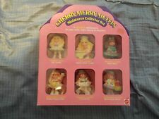 RARE VINTAGE MATTEL LOT CHERRY MERRY MUFFIN DOLL MINIATURES COLLECTOR SET MIB