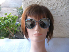 CHANEL NWT #71137 L0844 OVERSIZED/MIRRORED GRAY FAUX PEARL FRAME  SUNGLASSES