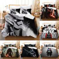 2019 Star Wars 3D Bedding Sets 3PCS Of Duvet Cover Soft Pillowcases~4 UK Sizes