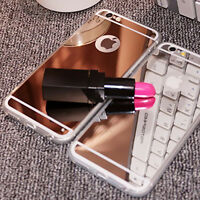 Luxury Ultra Mirror Finish Thin Soft Mirror Metal Case For Apple iPhone Models