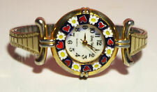 Vintage Lady Watch Quartz Original Murrina Glass Mod Venice Speidel USA Mint