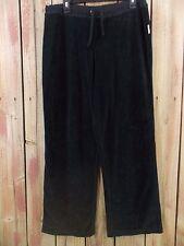 NAUTICA Sleepwear Pants & Top Black Velour Cotton Blend Lounge Wear Women's L