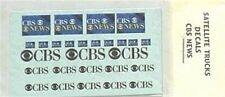 CBS News  Satellite TV  Transmission Truck  Decal Set