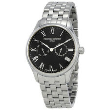 Frederique Constant Classics Black Dial Mens Stainless Steel Watch FC-259BR5B6B
