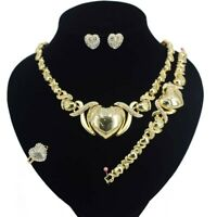 #32 HUGS &KISSES xo Set GF Necklace bracelet Ring size 9