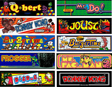 "#p606 (10) Mini 6"" Arcade Marquee Decal Sticker Laminated"