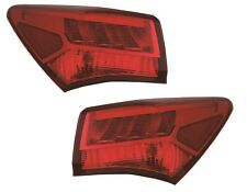FIT ACURA TLX 2018-2020 DARK CHROME OUTER TAILLIGHTS TAIL LIGHTS REAR LAMPS PAIR