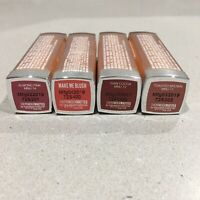 4x Maybelline New York Powder Mattes Lipstick - 3.9G Ea NEW Nudes Pinks Browns
