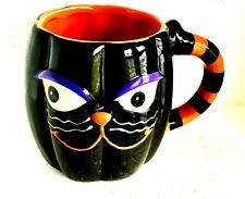 Black Spooky Cat Halloween Coffee or Cocoa Mug
