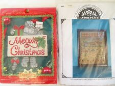 Cross Stitch Kits Astor Place Sampler; True Colors Meowy Christmas Danglers USA
