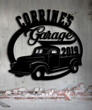 Classic Truck  Antique Truck  Personalized Metal Garage Sign  Metal Wall Art
