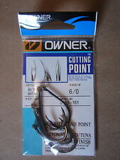 Owner Cutting Point size 6/0 Aki Twist Hook Black Chrome 5169-161 3x 4x Strong