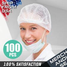 Disposable Hair Net Caps 100 pcs Non-Woven Head Cover Bouffant