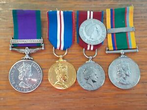 NORTERN IRELAND AND ARMY CADET FORCE LSGC MEDAL GROUP OF 4 C RATCLIFFE QLR