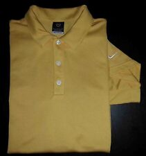 3285s Solid Yellow L NIKE GOLF Nike Sphere Dry Golf Polo!