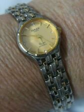 OMAX MBZ024 BRACELET LINK SILVER TONE band watch, NEW BATTERY A30