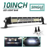 Super Slim 10inch LED Slim Light Bar Work SPOT FLOOD Combo Beam Truck Offroad