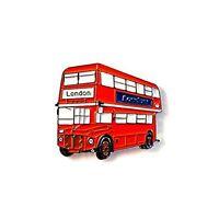 Red Double Decker Bus Enamel Lapel Pin Badge/Brooch Retro London Routemaster TFL