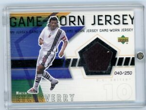 2000 UPPER DECK MLS JERSEY MATERIAL CARD MARCO ETCHEVERRY DC D.C. UNITED RARE  !