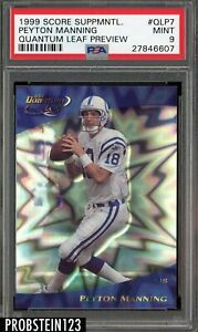 1999 Score Supplemental Quantum Leaf Preview Peyton Manning Colts PSA 9