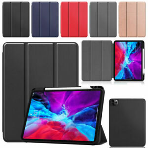For iPad Pro 12.9 11 inch (2020) Smart Stand Flip Cover Case with Pencil Holder