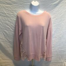 Almost Famous Women's Soft Pink Long Sleeve Thin Sweater Size S Euc