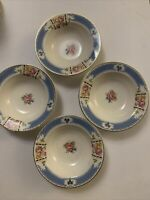 "4 Vintage Mid Century Homer Laughlin C41 N6 Small Bowls 6"""