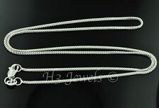2.50 grams 18k solid white gold franco wheat chain necklace 16 inches #4098 h3