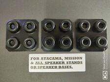 12x Speaker Stand Isolation Gel Pads (BLACK) for ALL SPEAKER STANDS & SPEAKERS.