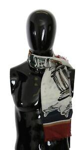DOLCE & GABBANA Scarf Cashmere Multicolor Print Wrap Shawl 135cm x 132cm $650