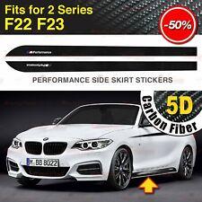2x M Performance Seitenschweller 5D Kohlefaser Aufkleber für BMW F22 F23 2-Serie