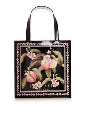 *BNWT* TED BAKER  BLACK AMACON FLORAL PEACH SPRING BOW SMALL TOTE BAG