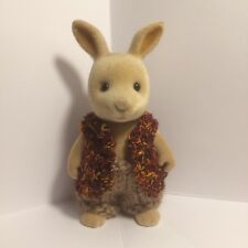 Sylvanian families clothes ~ knitted Tan & Brown Waist Coat + Brown Pants Adult