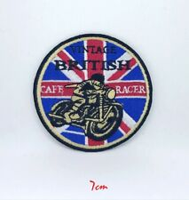 British Cafe Racer logo biker Embroidered Iron on/Sew on Patch #521