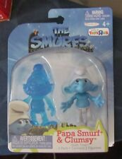 Smurfs 2011 movie figures Papa Smurf & Clumsy Toys R Us exclusive