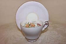 Paragon Aynsley Cup & Saucer Set, Pale Lavender, Orange, Blue, Red Flowers