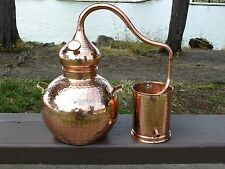 2.5 Gallon Copper Whiskey / Moonshine Still, Alembic, Ethanol, Essential Oils