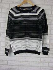 REGATTA Sz 12 Knit Top/Jumper Black, White Stripe 100% Cotton