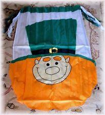 St. Patrick's Day Flag Irish Ireland Leprechaun Embroidered Banner 28x40 New