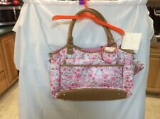 Laura Ashley Baby Girl 6 Piece Diaper Bag  New With Tags Color Pink Floral