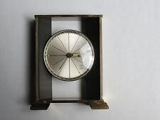 Vintage Linden Guild 8 Day 7 Jewel Brass Mantle Alarm Clock, Wind Up, France