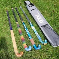 Lot of 4 used field hockey sticks 2 Gray's GX1000 and 2 more +bag