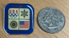 Official Usa Winter Olympics Lapel Hat Pin - Vg