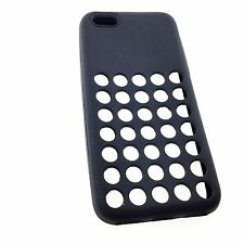 """iPhone 5C Ultra Soft Gel Silicone TPU Case Back Cover with Dots Holes 4"""""""