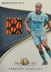 2020/21 Panini Immaculate Soccer - Vincent Kompany Boot Card - Man City #50/99
