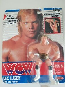 NEW - WCW Galoob Lex Luger figure with belt 1990 - no.2500